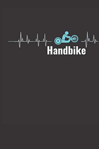 Handbike Frequenz: Handbike Notizbuch Cow Lady - Tolles liniertes Handbike Notizbuch - 120 linierte Seiten um Sportdaten, Ideen und Gedanken ... für Rollstuhlfahrer Menschen mit Behinderung