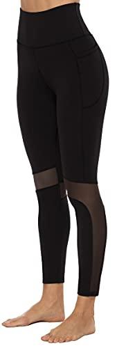 Persit Sport Leggings Damen, Yogahose Sporthose Laufhose Yoga Leggins für Damen Sportleggins Lang Schwarz 38(Herstellergröße M)