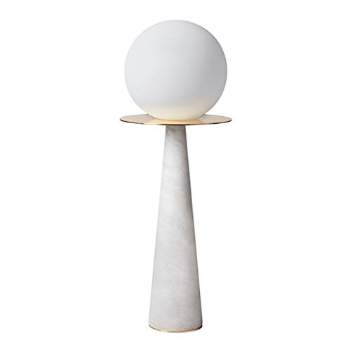 XIANWEI Nightstand Lamp Table Lamp Modern Marble Table Decor Lamp Living Room Bedroom Bedside Table Lamp - 17.7 Inches White Marble Desk Lamp Simple Night Light
