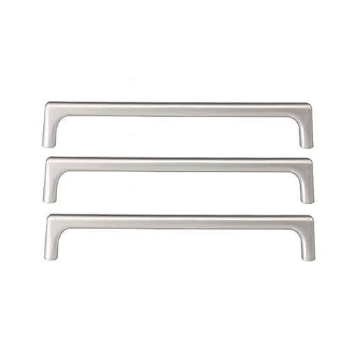 3 manijas de la puerta de la cocina de la cocina acero inoxidable, asas de cajones elegantes, manipulador de armario de mango de gabinete Tiradores de barra T, para cajón de armario de cocina Cajón de