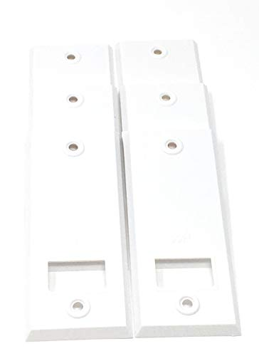 Abdeckplatte (Blende)eckig weiß mit Lochabstand 10,5 cm - Set 6 Stück JK -