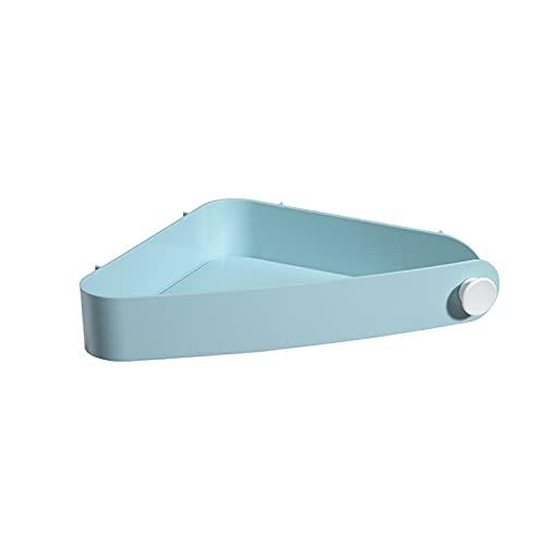 Tining 2 organizadores de fregadero triangulares de drenaje, 31 x 5 x 9 cm, color azul claro
