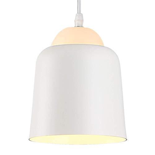 Candelabro Simple y creativo de un cabezal de hierro forjado luz pendiente decorativo, dormitorio Estudio Restaurante Bar accesorio de la lámpara, blanca techo ajustable Luz 117