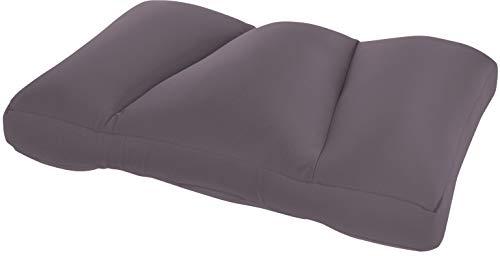 Invitalis Kuschel-Maxx, cuscino ortopedico per ogni stile di sonno, traspirante, certificato Öko tex 100, morbido e soffice con imbottitura in microperle, 60 x 40 cm, grigio, 55 x 38 cm