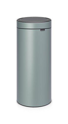 Brabantia - 115424 - Poubelle Touch Bin Unie New, 30 L - Vert Menthe
