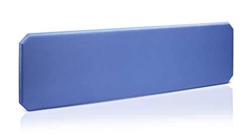 Oktagon Akustik Tischtrennwand, Schallschutz - Paneel, Stellwand schallabsorbierend, geprüft nach DIN EN ISO 354, Größe: 1200 B x 435 H x 50 D (mm), Farbe: blau