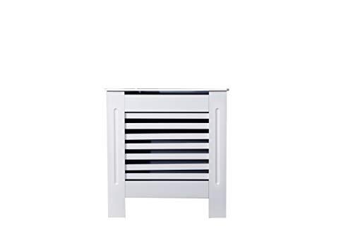 Elaborado radiador cubierta gabinete MDF moderno diseño horizontal para salón/cama-blanco-pequeño