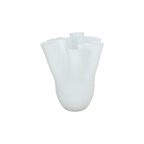 Andrea Fontebasso 1760 gi5vak60bia 0595963 vaso cm 27 vetro bianco bizarre