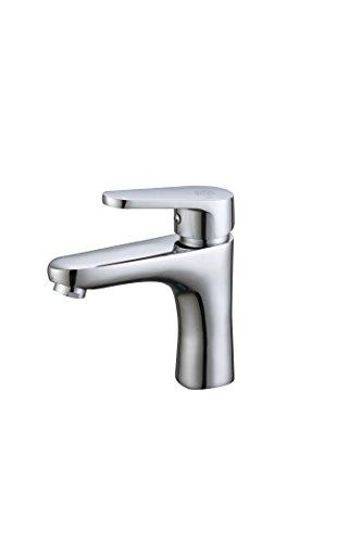 DP rubinetteria Alamo–Rubinetto monocomando per lavabo, colore: argento
