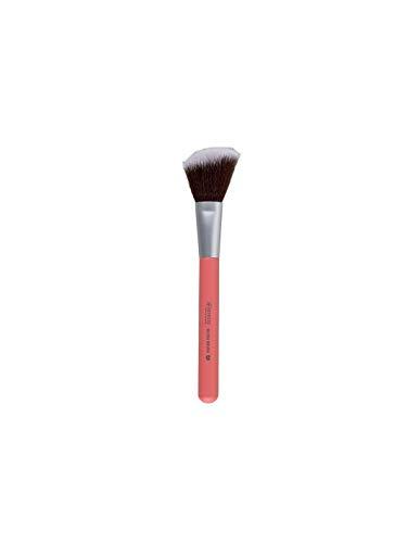 BENECOS - Pinceau Rouge - Fibres synthétiques Toray - soyeuse, douce et compacte - Manche en bambou certifié - Vegan - 12 cm