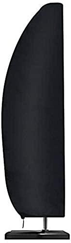 Sonnenschirm Schutzhülle mit Stab Ampelschirm Schutzhülle 2 bis 4 m Große Sonnenschirm 210D-Oxford-Gewebe Abdeckung Wetterfeste UV-Anti Winddicht und Schneesicher (265x40/70/50cm)