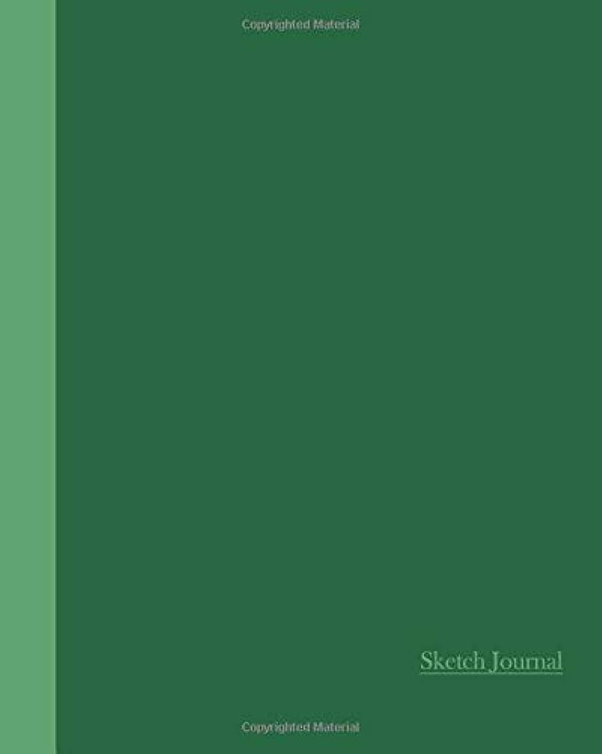 発言する細菌有望Sketch Journal: Two Tone Green 8x10 - Pages are LINED ON THE BOTTOM THIRD with blank space on top (8x10 Watercolor Flowers Sketch Journal)