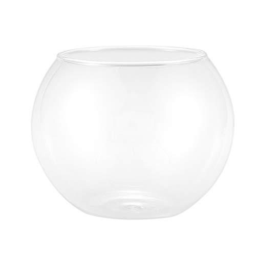 XZANTE Runde Kugel Vase in Transparentem Glas Fischbecken