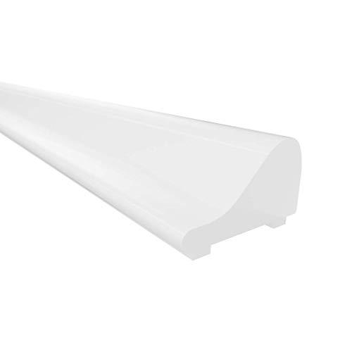 Kraus Premium Aluminium Schwallschutzleiste Dusche SP1000W | 1x Boden-Schwallschutz á 1000mm | Weiß