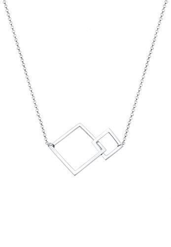 Elli Halskette Viereck Geo Quadrat Basic 925 Sterling Silber