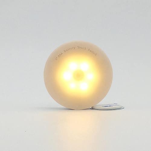 Luz de noche LED interruptor táctil inalámbrico luz del gabinete de energía de la batería para el dormitorio sala de estar armario iluminación del pasillo lámpara de noche-warm_white