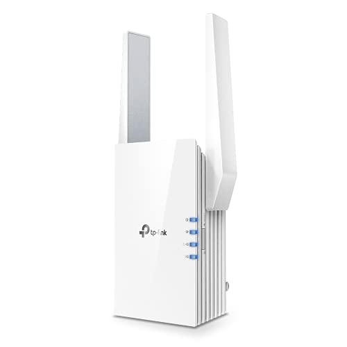 TP-Link AX1500 WiFi Extender Internet Booster, WiFi 6 Range Extender Covers up to 1500 sq.ft and 25 Devices,Dual Band up to 1.5Gbps Speed, AP Mode w Gigabit Port, APP Setup, OneMesh Compatible(RE505X)