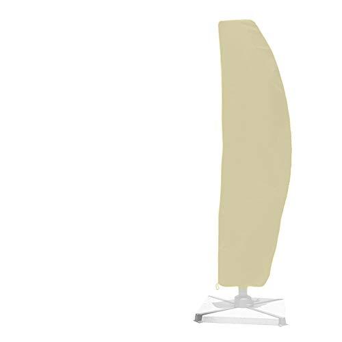 wasserdichte Sonnenschirm Schutzhülle, Bananenausleger mit extra großer Regenschirmhülle mit Reißverschluss, Atmungsaktives Oxford-Material, Winddicht und UV-Schutz (265 * 40cm, Beige)