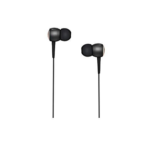 Hoco - Auriculares in-Ear con micrófono y Control de Volumen para iPhone, iPad, iPod, Samsung Galaxy, Nokia, HTC, Nexus, LG, Blackberry, MP3, 3,5 mm Negro