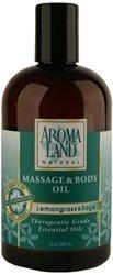 Aromaland Massage & Body Oil Lemongrass & Sage 12 Oz. by Aromaland