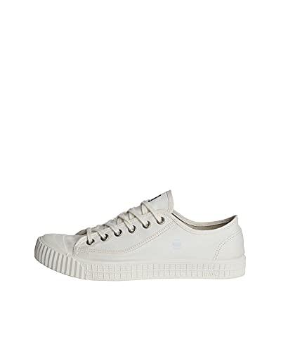 G-STAR RAW Rovulc Denim Low Sneakers, Zapatillas Hombre, Blanco (White (White 110) 110), 41 EU
