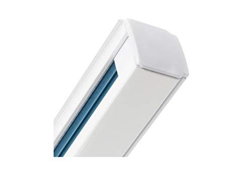 Carril Monofásico 1 metro REFORZADO, Carril de techo, Carril focos LED, Barra de Aluminio, Guía para foco carril (Blanco)