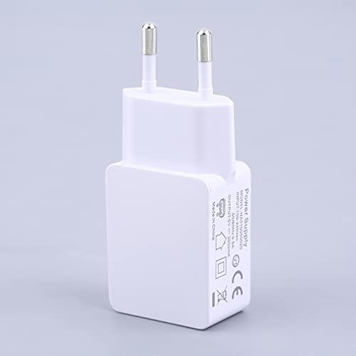 YLWL 5V 2A Enchufe USB práctico Cargador USB Ligero Tour Cargador de teléfono para el hogar Blanco