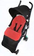 Voetzak/COSY TOES compatibel met Bebecar Spot kinderwagen Fire Red