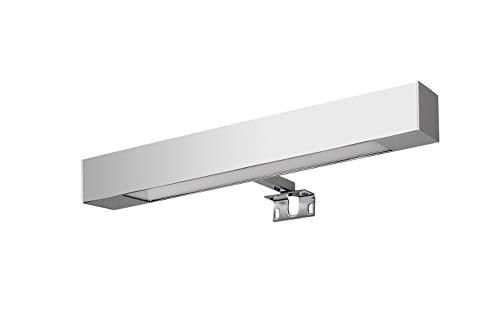 Lámpara de baño, Aplique de Baño 24cm Luz,Halogeno 600Lumenes, 40w 2600kluz brillante, potente y moderna, perfecto para el baño. [Clase de eficiencia energética A++]. IP44. baño iluminado.