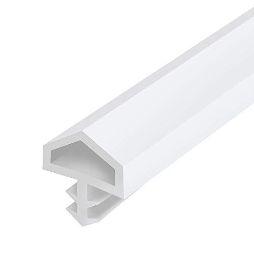 Gedotec Türanschlagdichtung Tür-Dichtung Zimmertür M 680 für Holzzargen | Türzargen-Dichtung weiß | Falzbreite: 12 mm | Kunststoff weich PVC | 25 Meter - Zargendichtung für Innentüren aus Holz