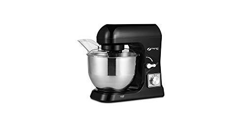 MAGNANI Multifunktionale Küchenmaschine 1000 W Schwarz, Knetmaschine mit 6 Geschwindigkeitsstufen, Rührmaschine, Rührgerät mit 5 l Rührschüssel aus Edelstahl