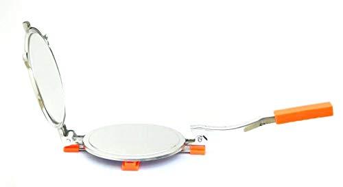 Shanika Puri Presse | Roti Maker | Papad Maker – Edelstahl – Manueller Tortilla-Maker – (15,2–17,8 cm) – Zuhause | kommerziell, rostfrei