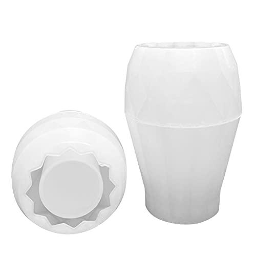 happygirr Jarrón de resina con forma geométrica de silicona para manualidades, maceta, cristal, maquillaje, brochas, soporte para bolígrafo, fabricación de forma
