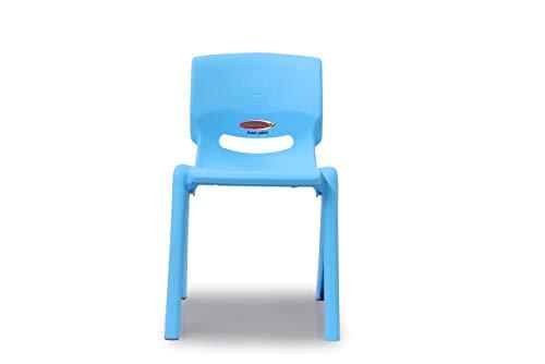 JAMARA 460583 - Kinderstuhl Smiley bis 100 KG - stapelbar, aus robustem Kunststoff, Indoor-Outdoor geeignet, blau