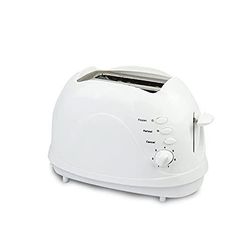 Dpliu 2 Toaster Toaster Home Mini Toaster Sandwich Breakfich Machine, 650W, Blanco