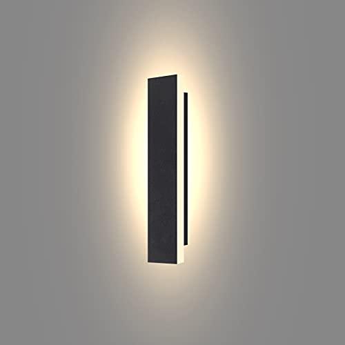 Ritif lámpara de pared para exteriores LED 9W Blanco Cálido 3000K iluminación exterior de 30CM IP65 Apliques de Pared para puerta patio y jardín