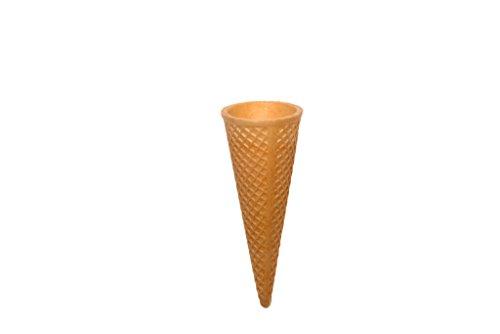 PJaspert Eiswaffeln | Halbsüße Knuspertüten 115mm x Ø47mm (30 Stück)