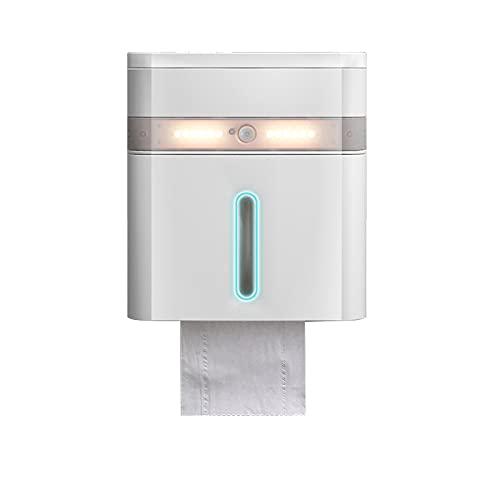 GYing Tenedor de Papel de Papel higiénico Blanco,Soporte de Toalla de Papel Autoadhesivo de Toalla de Papel de múltiples Capas,de Papel higiénico de Pared con Caja de Almacenamiento