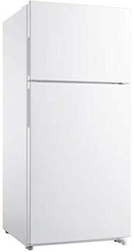 Frigidaire FFHT1824UW 30 Inch Freestanding Top Freezer fridge with 18 cu. ft. Total Capacity, 2 Glass Shelves, 4 cu. ft. Freezer Capacity,Right Hinge with Reversible Doors, Crisper Drawer, in white