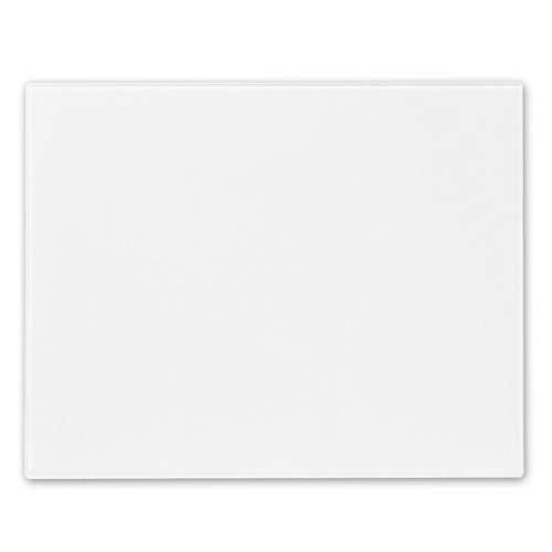 Harbour Housewares Planche à découper en Verre - antidérapant/pour Cuisine - Blanc - 500 x 400 mm