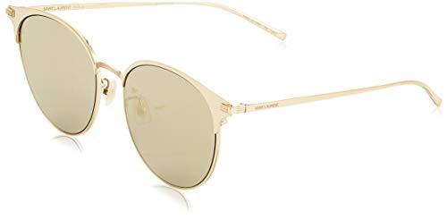 Saint Laurent Unisex-Erwachsene SL 202/K 002 Sonnenbrille, Gold (2/Bronze), 57