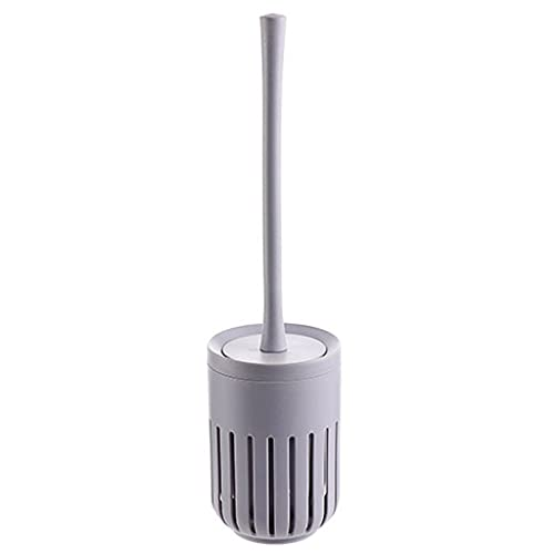 Soporte Portaescobillas para Inodoro Cepillo de inodoro montado en la pared con un brocha de inodoro con mango largo con cepillo de inodoro de base Diseño simple Baño de hogar Cepillo de baño Conjunto