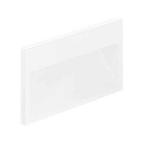 Volton - Aplique LED de Pared Interior/Exterior de empotrar IP65, 9W, 520Lm, 4000K, Color Blanco Mate