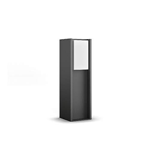 Philips Hue White Turaco, Piedistallo Luminoso per Esterni in Alluminio, Antracite, E27 Lampadina Inclusa [Classe di Efficienza Energetica A+]