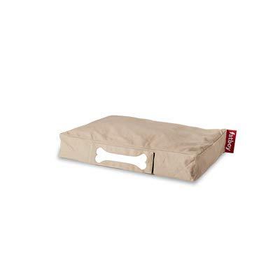 Fatboy® Doggielounge Small Stonewashed Baumwolle | Kleines Hundekissen in Sand | Abwaschbares Hundebett für kleine Hunde | 60 x 80 x 15 cm