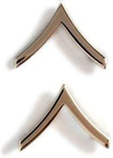 US Army Private Gold Collar Device Rank Insignia Pair
