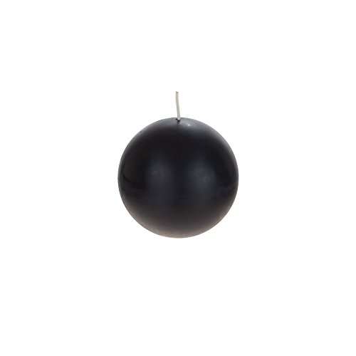 Mega Candles Unscented Black Round Ball Candle, Hand Poured Premium Wax Candles 4 Inch Diameter, Home Décor, Wedding Receptions, Baby Showers, Birthdays, Celebrations, Party Favors & More