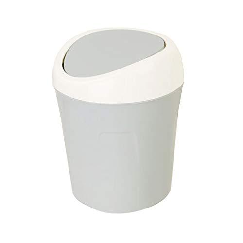 OMIDM Bote de Basura Papelera de Escritorio Creativa Mini Hogar Sala de Estar Dormitorio Lecho de Basura Lecho de Basura Papelera Cubo de escombros Papelera (Color : Blue)