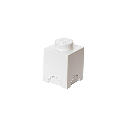 Mini brique de rangement empilable Blanc - Lego Décoration