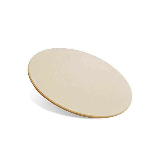 Pizzastein, 35,6 cm, runder Backstein für Brot, Keramik, Pizza, Grillsteine zum Kochen und Backen, BBQ und Grillen, Pizzastein für Ofen Pizzastein 16 Inch